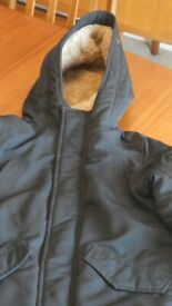 Abercrombie Kids Fleece lined jacket in Black size 7/8