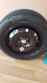 nearly new michelin tyre 205/55 r16 on steel rim.