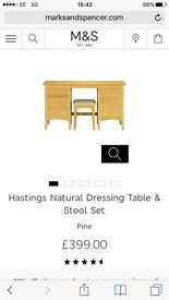 Lovely Marks and Spencer's dressing table with stool