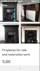 Cast iron fireplaces for sale and fire surrounds Delivery uk £25
