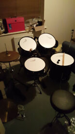 Stagg used beginner drum kit inc. cymbals, hardware (stands, pedals), everything you need to play