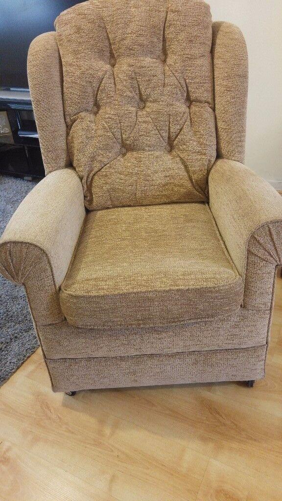 Winged sofa armchair