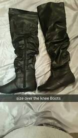 Size 5 Ladies over the knee boots