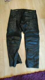 Motorbike Ace leathers leather Trousers uk 44