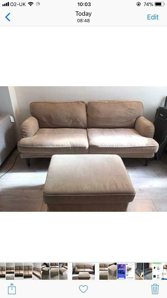 Miraculous Ikea Sofa And Footstool In Slough Berkshire Gumtree Inzonedesignstudio Interior Chair Design Inzonedesignstudiocom