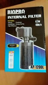 fish Bio pro internal filter brand new boxed.