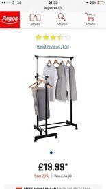 2 tier clothes rail