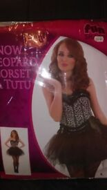 brand new ladies sexy collection east kilbride corset and tutu skirt size 16 - 18