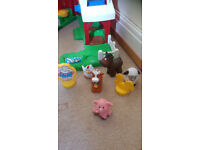 Fisher Price Little People musical Animal Farm and animals
