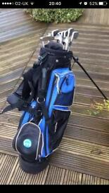 Ping golf clubs and bag