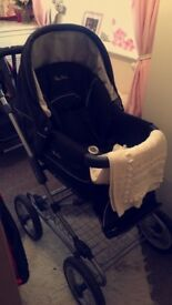 Silver cross sleepover pram and pushchair