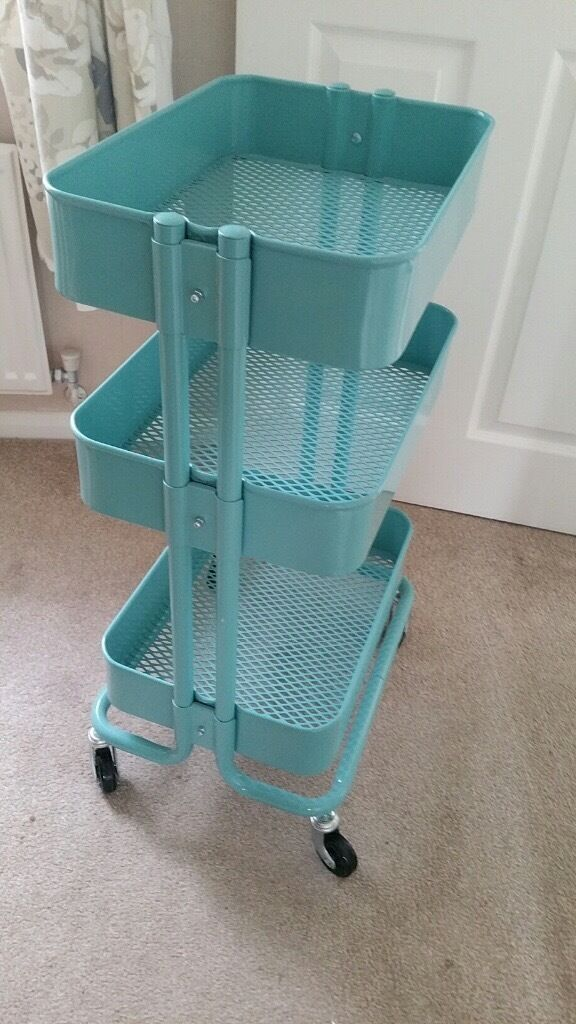IKEA Raskog cartstorage trolley in turquoise colour in  : 86 from www.gumtree.com size 576 x 1024 jpeg 95kB