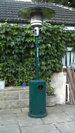 Large Gas patio heater with propane gas cylinder
