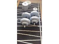 York 47.5kg Vinyl Barbell/Dumbbell Set