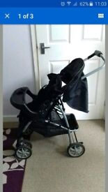 Graco navy pushchair