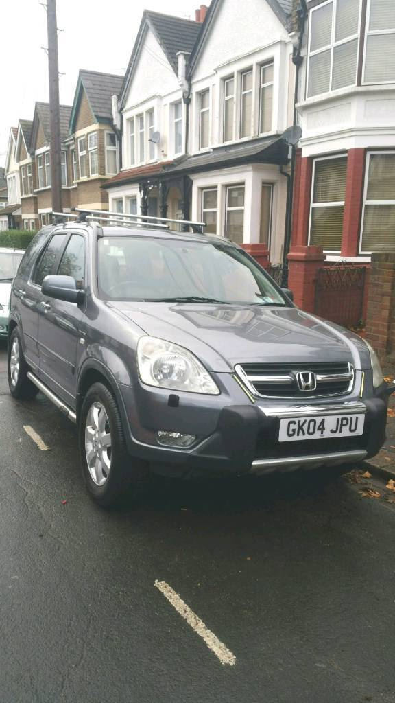 CRV 2004. AUTOMATIC. PETROL. LOW MILEAGE 102K. METALLIC GREY. SPECIAL EDITION. LEATHER SEATS.