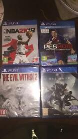 4x PS4 games latest titles