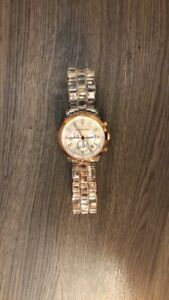 Michael Kors Oversized Rose Gold and Clear Watch