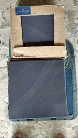 "Topps Tiles ""Sandwaves"" porcelain tiles, charcoal, approx 30cm x30cm New, boxed, 26 tiles"
