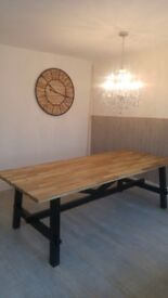 Stunning brand new big wooden table up to 8seats
