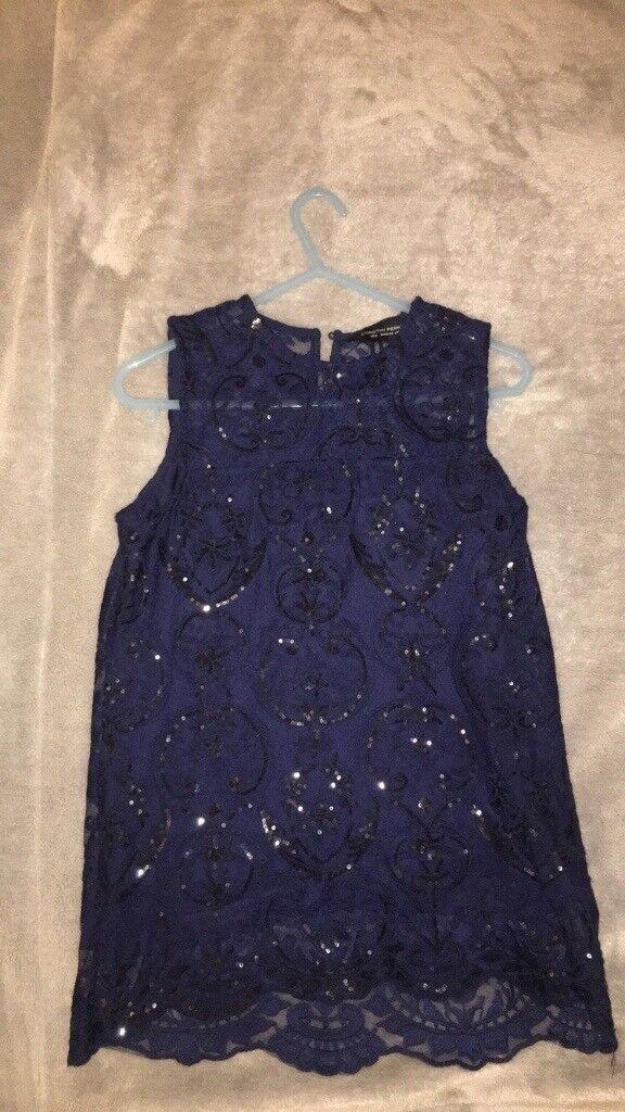 Navy blue Dorothy Perkins top