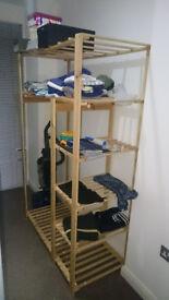 Open Wardrobe (Pine Double)