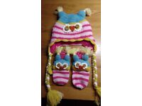 Joules girl's hat & gloves