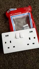 Double USB Plug Socket