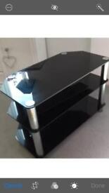 Tv Stand black glass