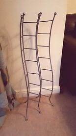 Metal CD rack from John Lewis. Holds 122 CDs.