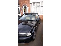 Bmw e46 325ci convertible steptronic 2003 black with beige leather interior