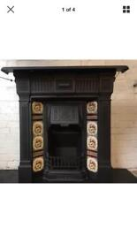 Fireplace Victorian cast iron fire DELIVERY £25 Most uk max
