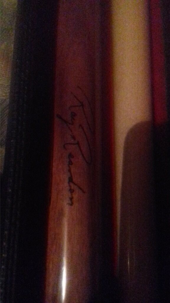 signed pool cue
