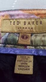 TED BAKER - Lovely straight leg ladies dress trousers. Black, Size 1 (8-10)