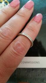 Radiant Hearts eternity ring size 54