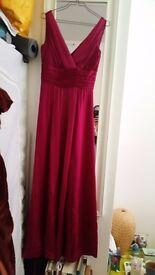 Purple, empire line Monsoon dress, size 8