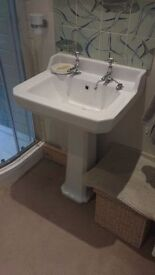 Hardly used sink with taps