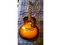 Epiphone EJ200 Acoustic Guitar Without Cutaway (Indonesia) Solid Top