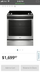 "Whirlpool 30"" 6.2 Cu. Ft. Self-Clean Slide-In Smooth Top Electric Range"