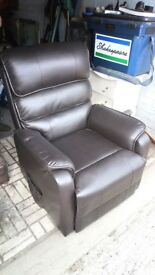 Remote controlled reclining and lifting chair, like new
