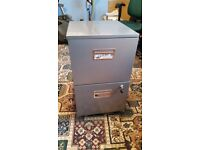 2 Drawer Metal Filing Cabinet with wheels
