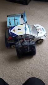 Kyosho nitro ford focus Colin McRae vintage
