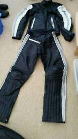 Hein Gericke leather motor bike jacket and trousers Like New