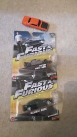 3×Fast and furious diecast