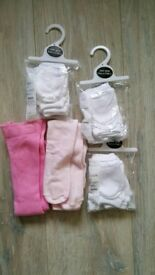 Baby tights and mittens. First size.