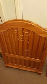 nice solid cot bed
