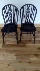 2 Wheel Back Chairs