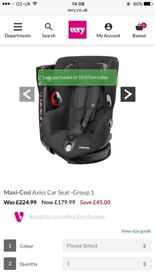 Maxi-Cosi car seat for sale, Group 1! RRP £179.99 AMAZING CONDITION