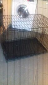 Large Folding Dog Crate 92 cm Long x 58 cm Wide x 63 cm High