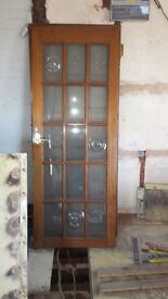 15 PANEL GLASS INTERNAL DOORS x3